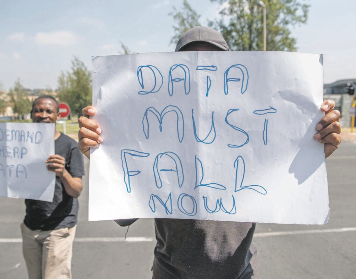 For at least three years, activists have been demanding that mobile operators reduce their data costs. Picture: Alet Pretorius / Gallo images