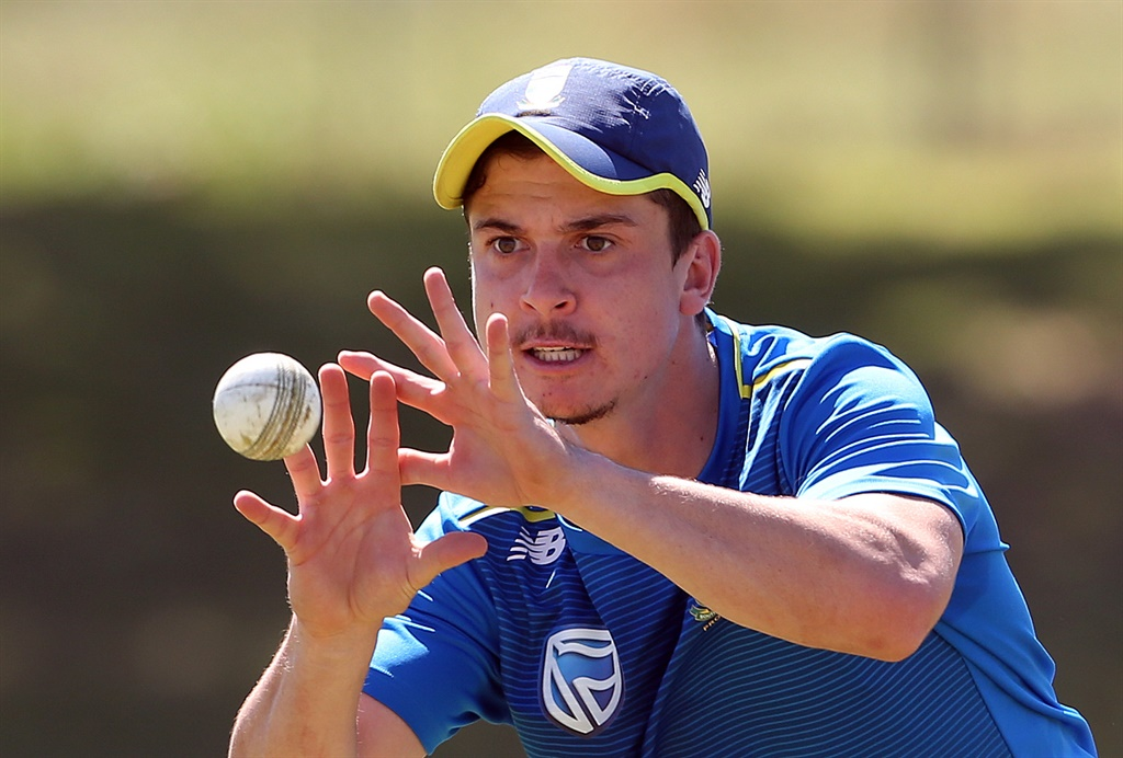 Matthew Breetzke during the South African national cricket team training session in Paarl. Picture Carl Fourie/Gallo Images