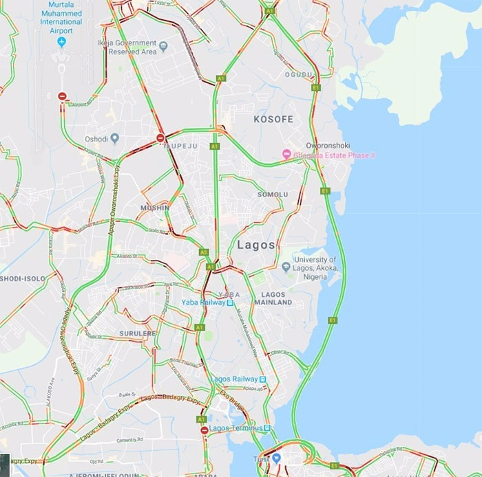 traffic report for October 22, 2018