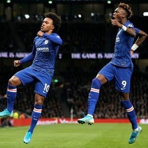 Willian and Tammy Abraham (PA Images)