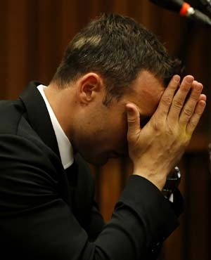 Oscar Pistorius in the North Gauteng High Court. (Sapa)