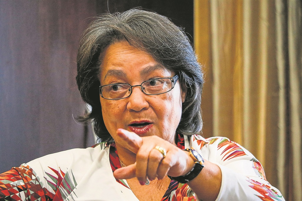 Publi Works and Infrastructure minister Patricia de Lille. Picture: Adrian de Kock