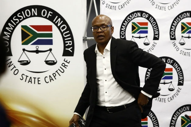 Former CEO of Government Communication and Information System Mzwanele Manyi testifies at the judicial commission of inquiry into state capture. (Gallo Images/Thapelo Morebudi)
