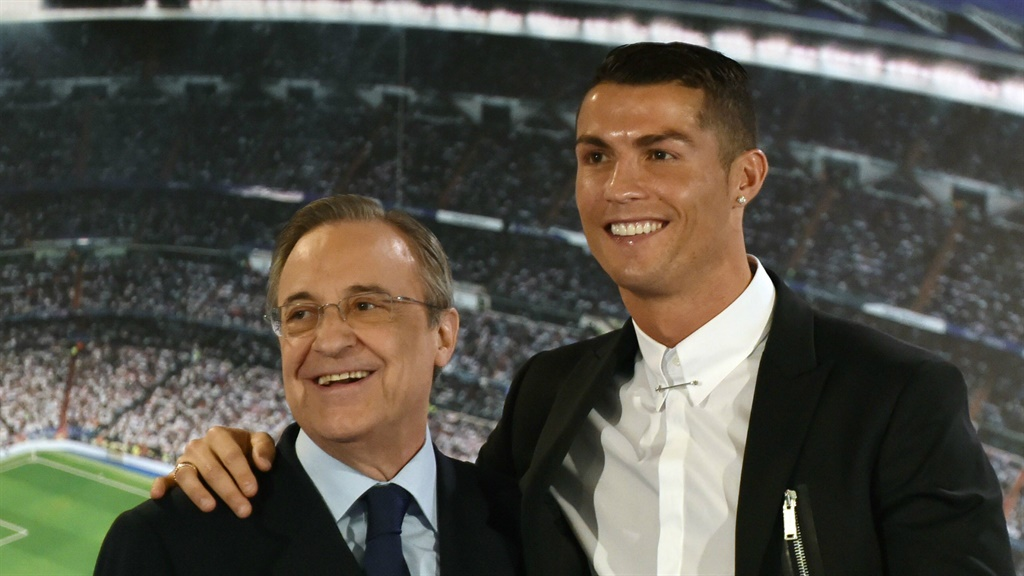 President of Real Madrid, Florentino Perez & Crist