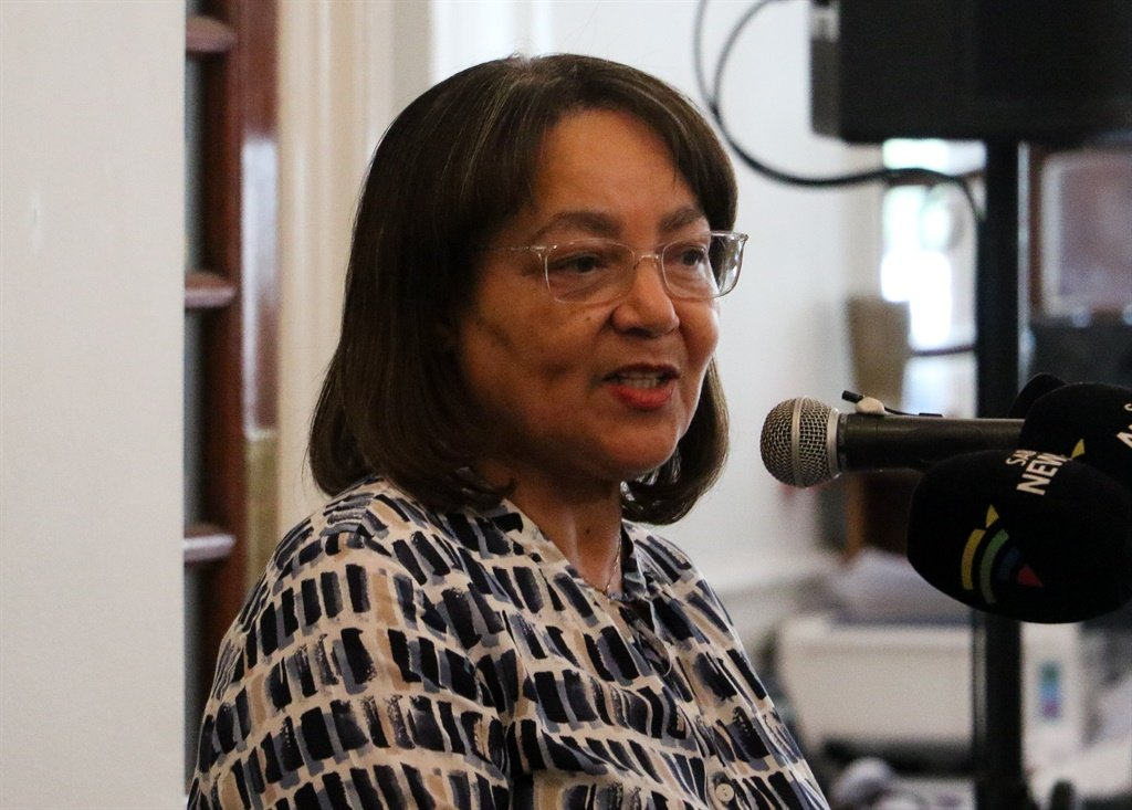 Cape Town mayor Patricia de Lille, speaking at the Cape Town Press Club on Monday. (Jan Gerber/News24)