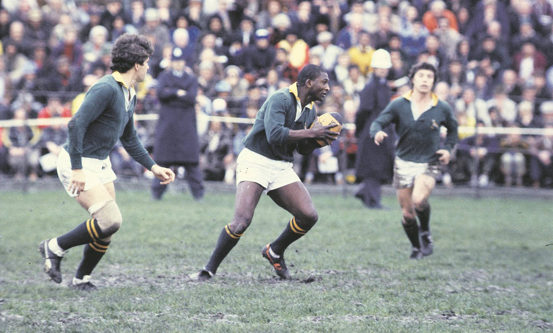 Errol Tobias  in action during the Boks' 1981 tour in New Zealand. Photo: Gallo Images