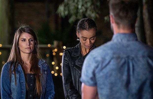 Jessica, Qiniso and Marc on 'The Bachelor SA.'