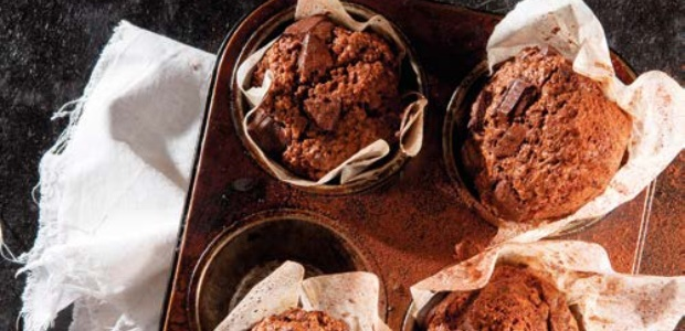 Chocolate oat muffins