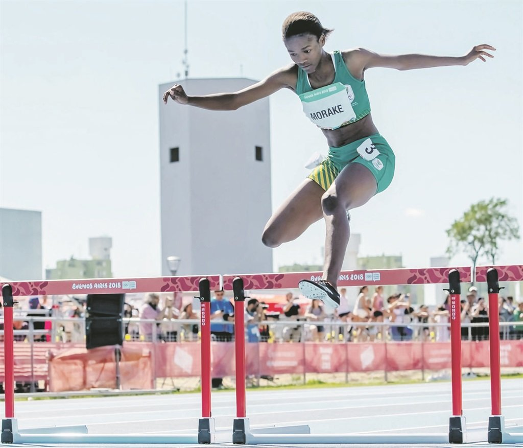 high flyer Gontse Morake demonstrates her hurdling prowess at the Youth Olympic Games, held in Buenos Aires, Argentina, in OctoberPHOTO: Anton Geyser / Gallo Images