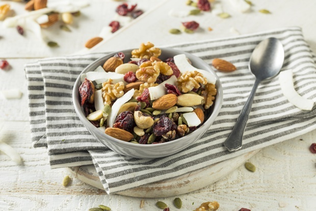 Healthy Homemade Superfood Trail Mix with Nuts and