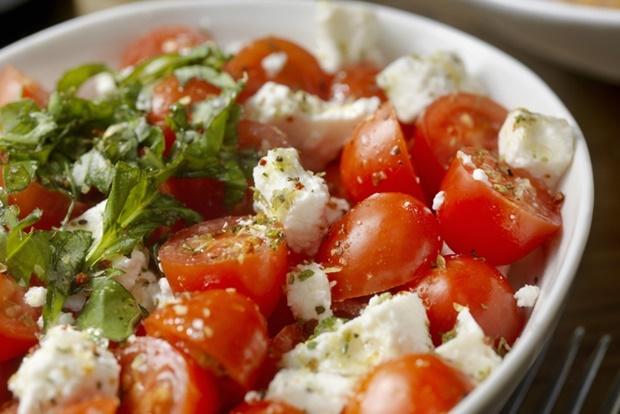 Tomato and Feta Salad with Freshly Chopped Basil