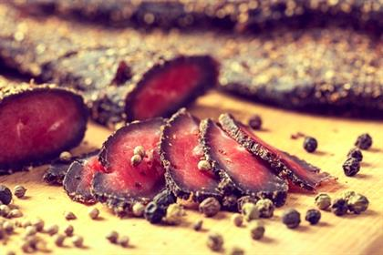 Sliced biltong - South African dry meat snack; can
