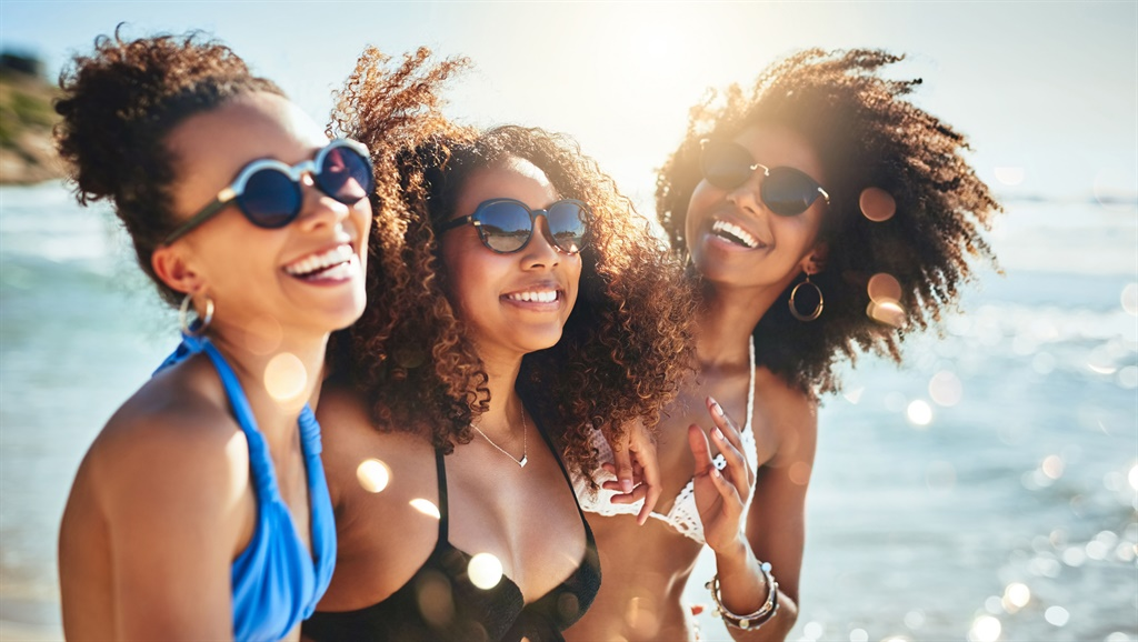 Shot of a group of happy young women having fun to
