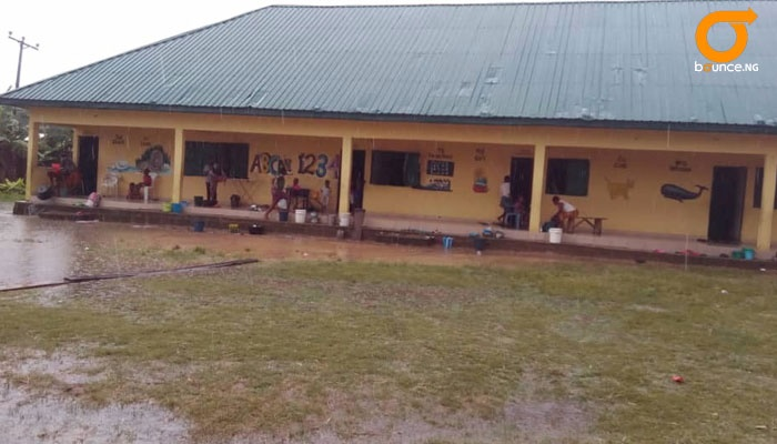 Most of the flood victims are putting up in school