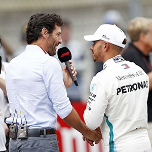 Mark Webber and Lewis Hamilton (PA)