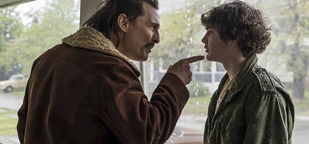 Matthew McConaughey and Richie Merritt in a scene