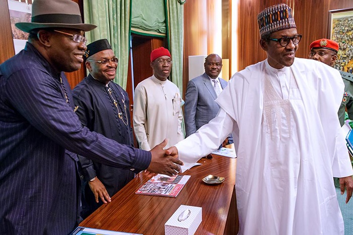 South South Governors Warn Buhari About 2019 Elect