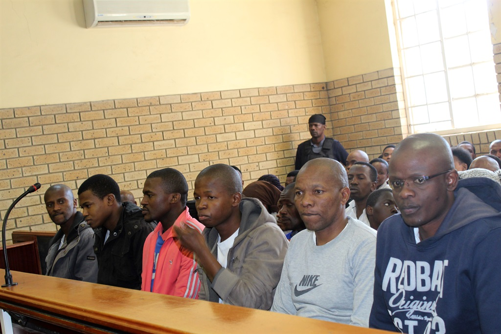 The six accused during a brief appearance at the Ngcobo Magistrate's Court earlier this year. Picture: Ziyanda Zweni