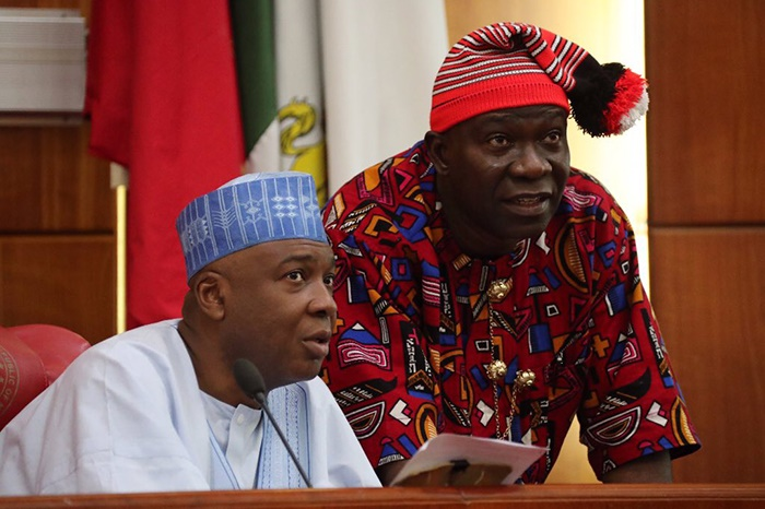 Ike Ekweremadu at Senate Plenary