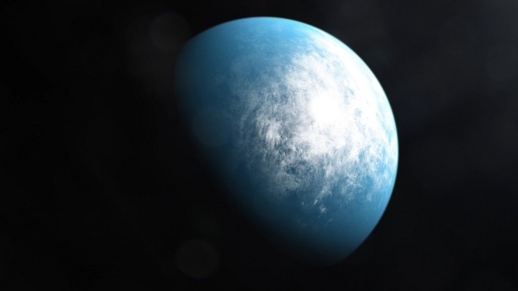 An artists' illustration of the planet TOI 700 d, the first Earth-size habitable-zone planet discovered by NASA's Transiting Exoplanet Survey Satellite (TESS). (Nasa/AFP)