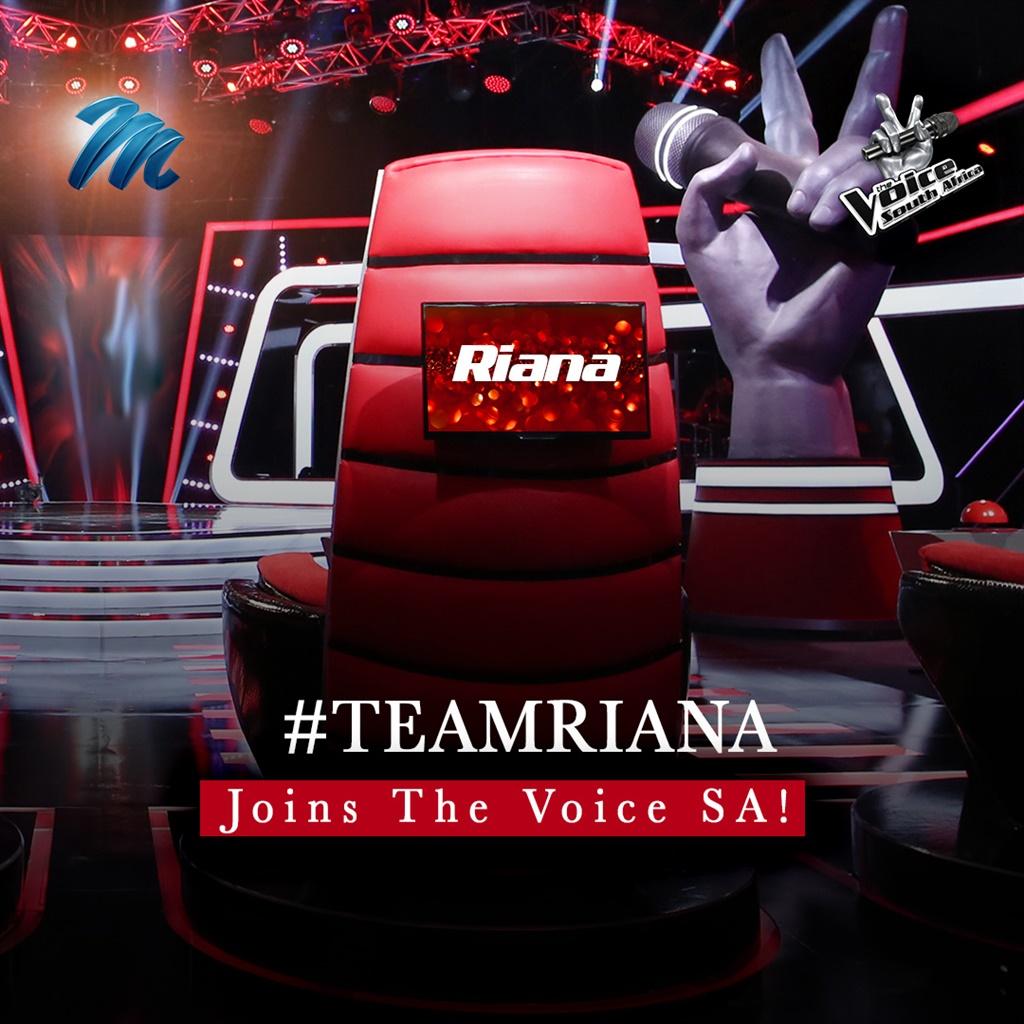 Riana se stoel vir The Voice South Africa