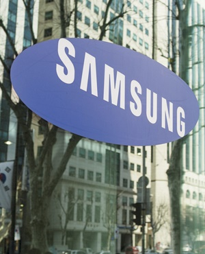 The Samsung logo on one of the South Korean company's offices in Gangnam, central Seoul. (iStock)
