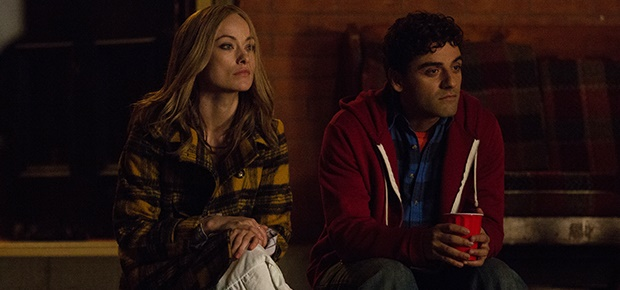 Olivia Wilde and Oscar Isaac in the movie Life Its