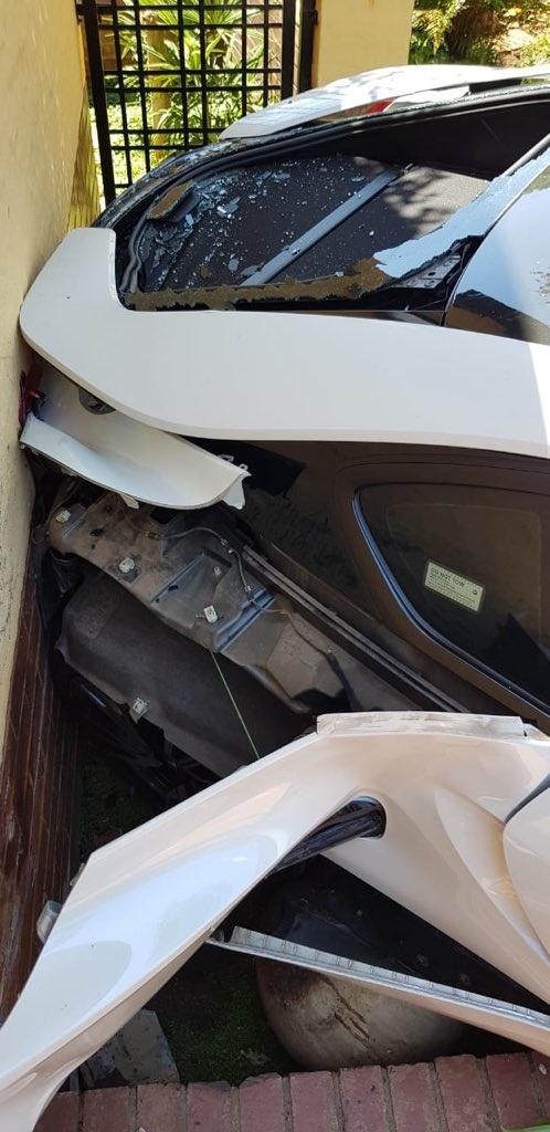 Watch Driver Wrecks Bmw I8 Daily Sun