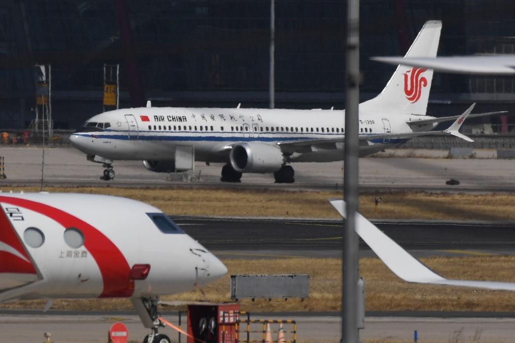 'n Boeing 737 MAX 8-vliegtuig wat gebruik word deu