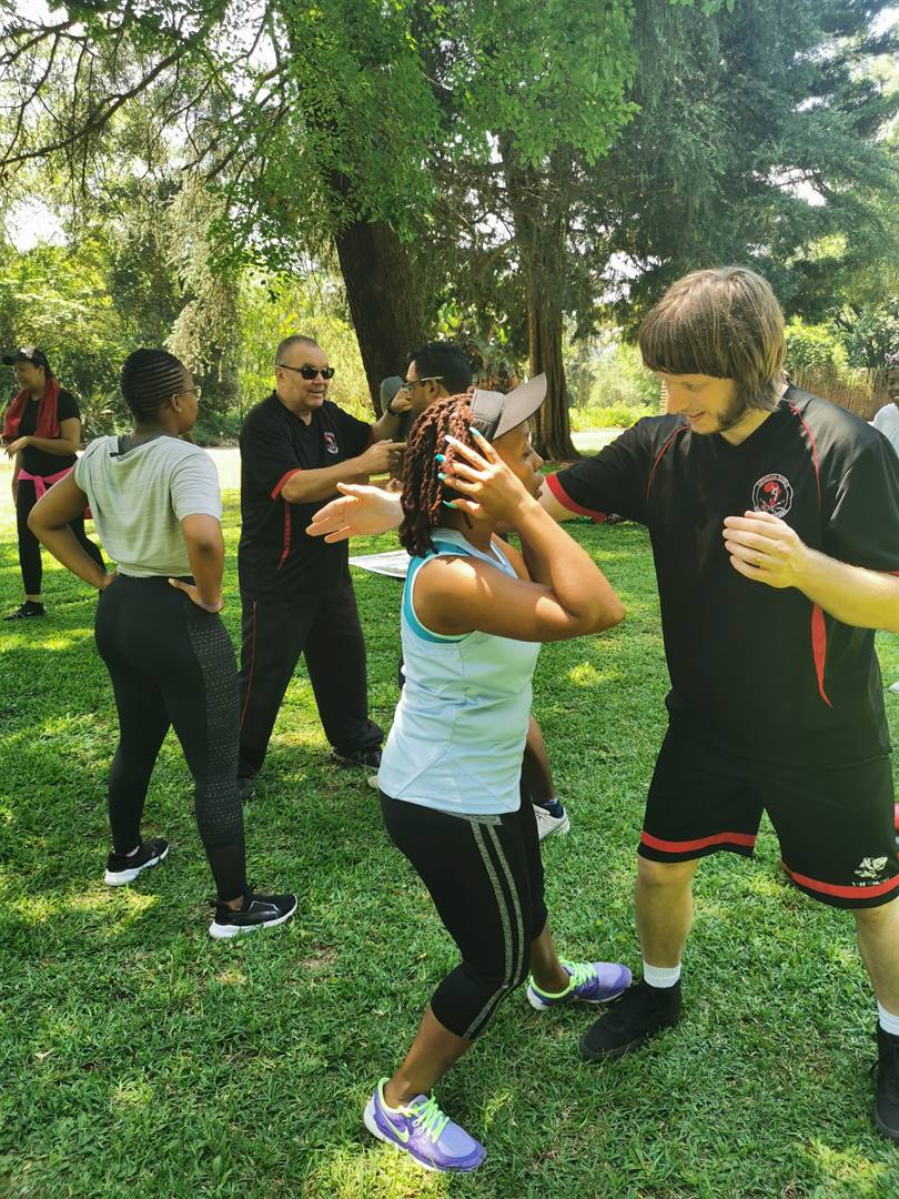 PHOTO: SUPPLIEDDuring the Self Defense Aerobathon for charity at the KZN National Botanical Garden.