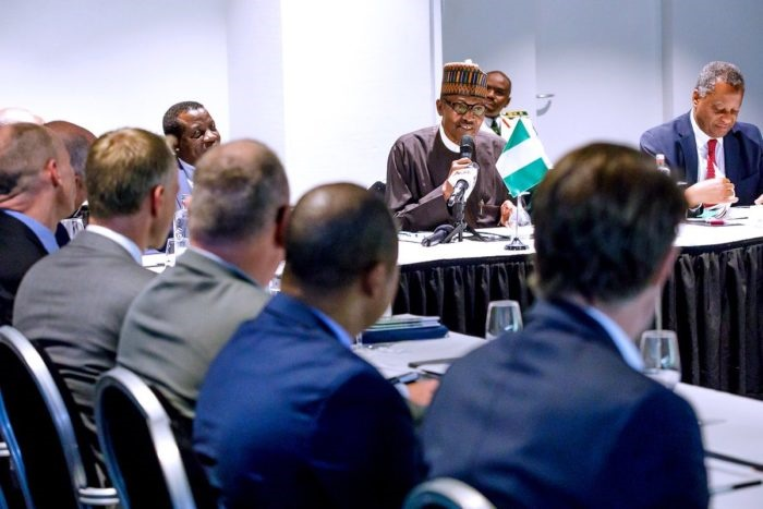 Buhari meets CEOs of dutch companies