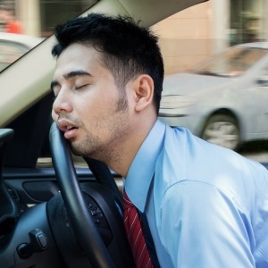 Falling asleep behind the wheel causes many accidents.