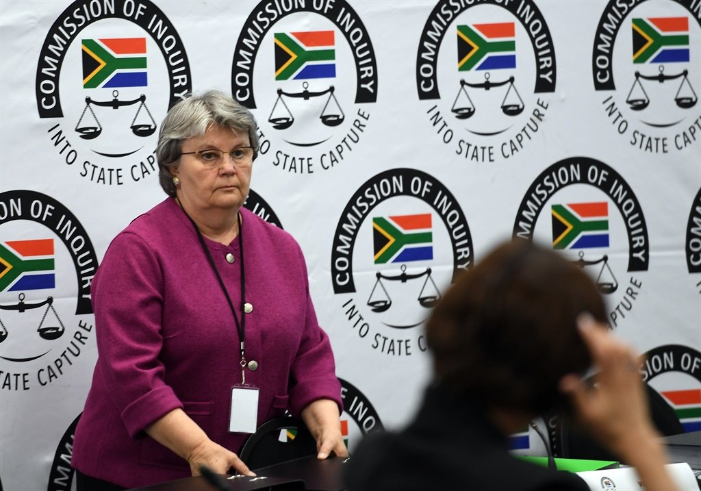Former public enterprises minister Barbara Hogans at the Zondo commission of inquiry into state capture. (Photo by Gallo Images / Netwerk24 / Felix Dlangamandla)