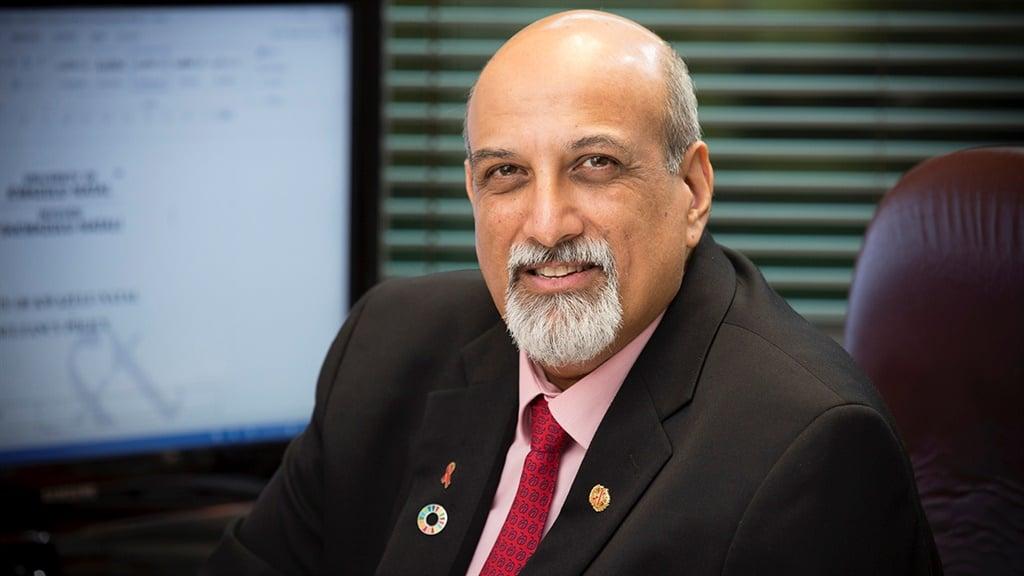 Professor Salim Abdool Karim, the country's chief coronavirus scientist.
