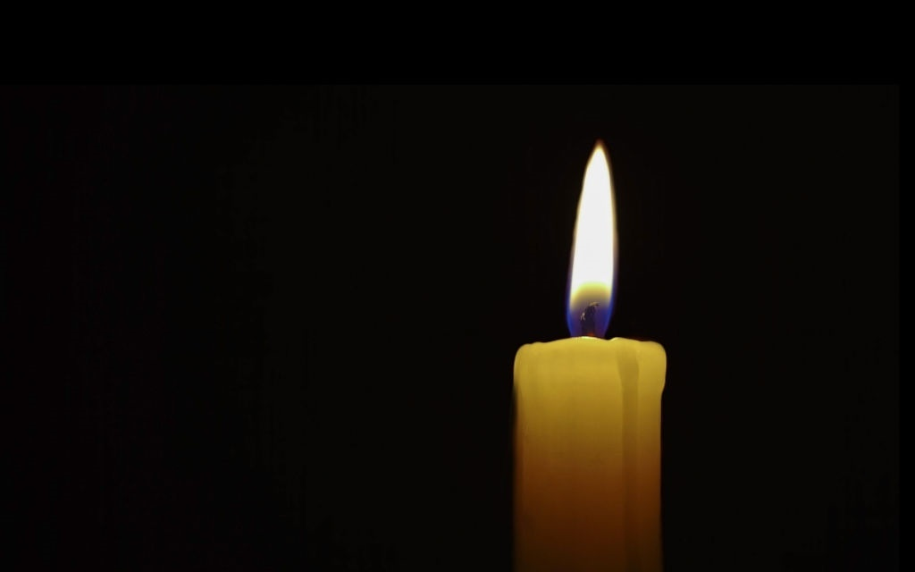 A candle in the dark.
