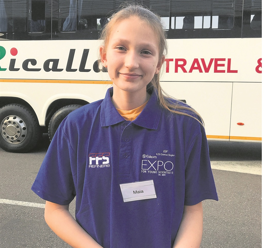 Maia Lucie Klijnstra was one of four schoolgirls selected to go to Hong Kong for the International Maths Challenge.PHOTO: SUPPLIED
