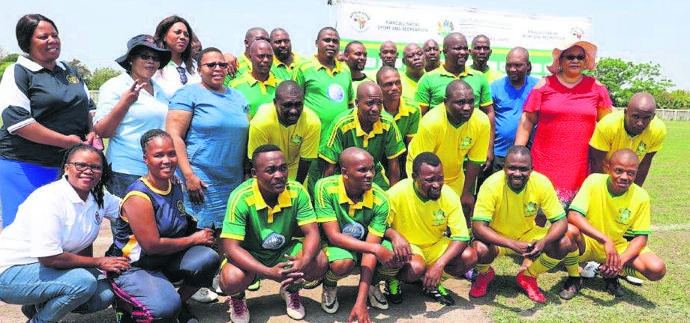 PHOTO: suppliedOfficials from all four iLembe municipalities participated in the games against AmaKhosi from the district.