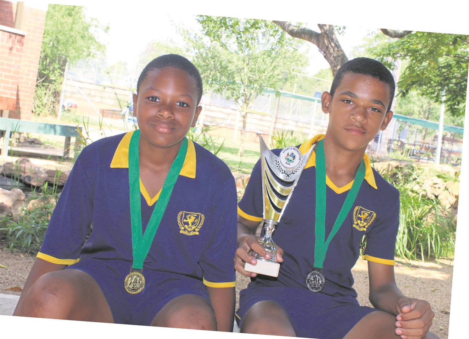 Scottsville School is very proud of boys Khanyisa Majozi (left) and Malachi Momple for their outstanding results at the KZN Soccer Tournament recently. PHOTO: SUPPLIED