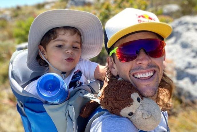Ryan Sandes, and his son, Max. (Ryan Sandes)