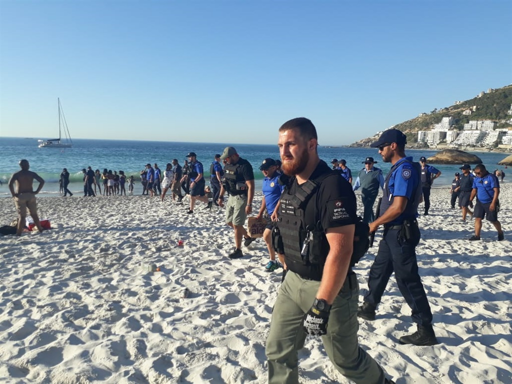 a5d1fe6de3 WATCH  Residents clash with protesters over slaughter of sheep at Clifton  beach
