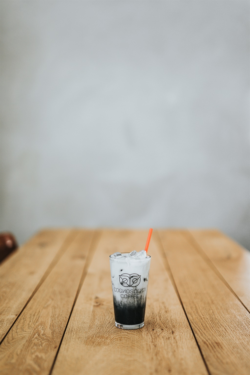 A drink with activated charcoal