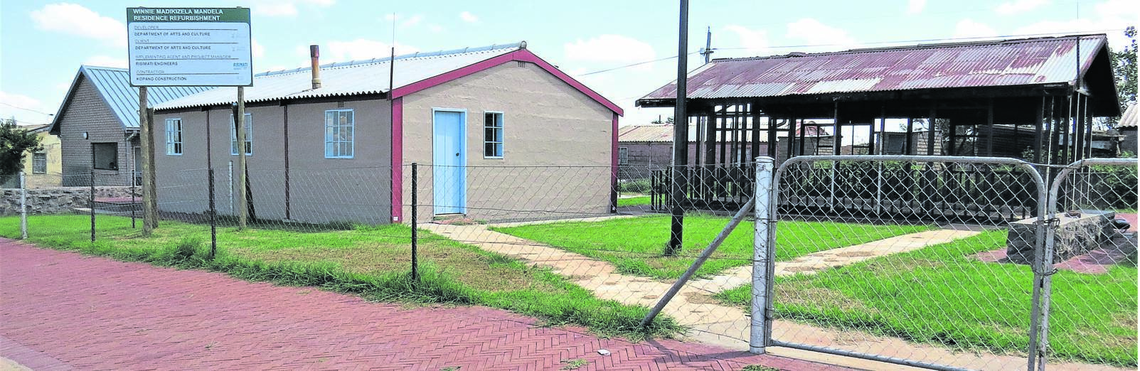 The restored Winnie Madikizela-Mandela Brandfort House Museum in Majwemasweu, Brandfort. Behind the house is a newly built structure believed to be part of the museum. Photo: Teboho Setena