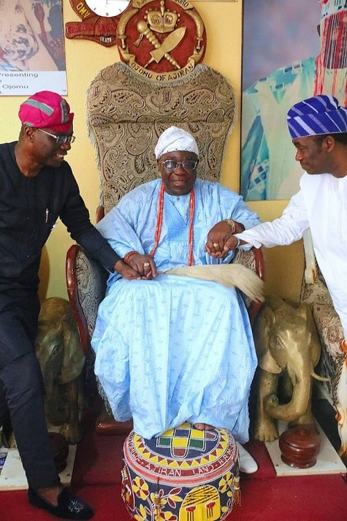 Sanwo-Olu and his deputy, Femi Hamzat with the Ojo