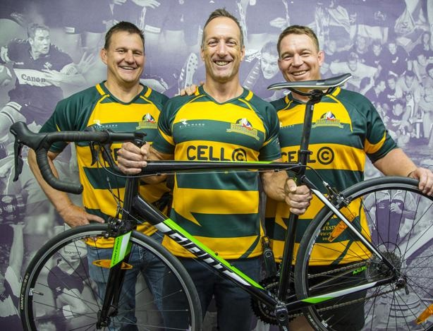 PHOTO: suppliedSA Rugby Legends (from left) Wayne Fyvie, Stefan Terblanche, and John Smit have partnered with the MRP Foundation, supporting the annual Ride for MRP Foundation.