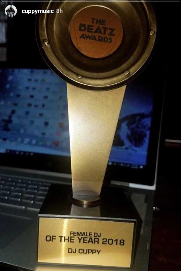 dj cuppy,beatz award