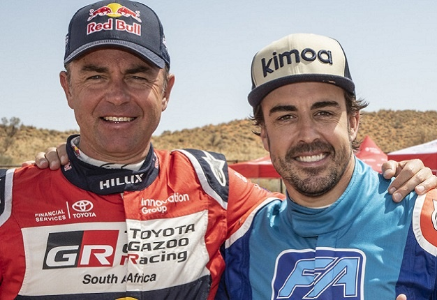 Giniel de Villiers and Fernando Alonso