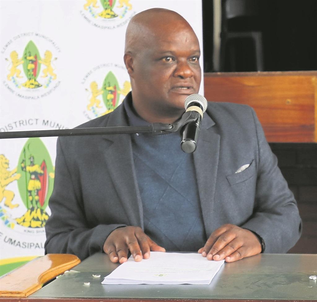PHOTO: nkosinathi DUbEMayor Sduduzo Gumede delivers his report at the KwaDukuza leg of the municipality's IDP roadshow.