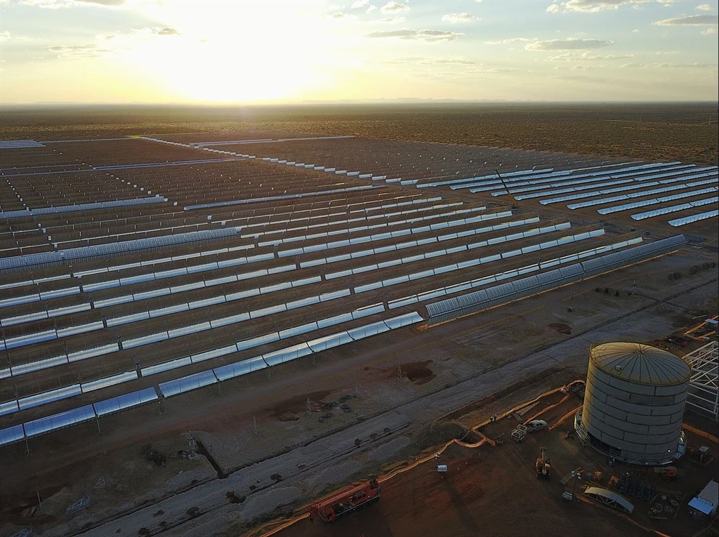 A massive new solar power station has come to life in the South African desert