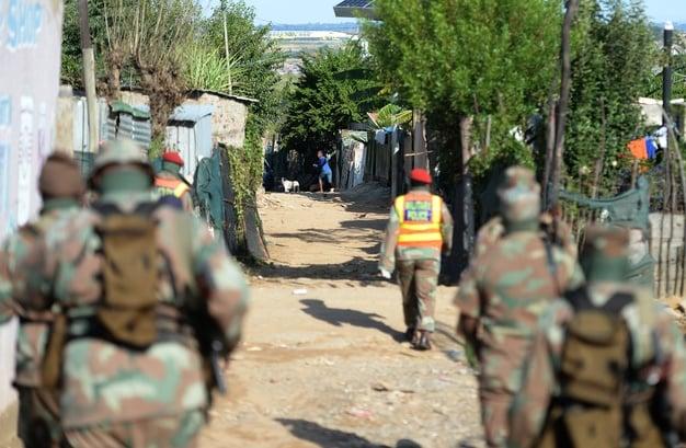 16042020 News Johannesburg: The army and police ra