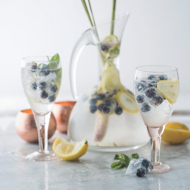 Lemon and blueberry fizz